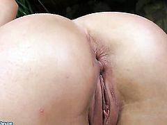 Blonde sucks the cum out of ram rod