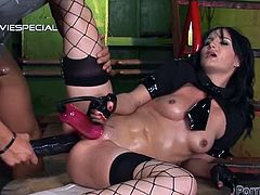 Make sure you have a look at this hardcore scene where Sandra Black has her pussy lips pumped before she's fucked silly by a guy with a big cock.