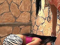 ANGEL PINK AND TEEN GIRL FUCK THEIR LITTLE ASSES WITH A POWER TOOL