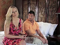 This light haired sultry seductress Sweetie want to fuck a lot. She falls on seducing her handsome brutal guy. And it seems he is not against harsh loping. Watch this blond seductive chick in Wicked sex clip!