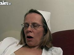 Take a look at this amateur video where this horny mature blonde is fucked silly by her man until swallowing his cum.