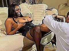 Carmen Hayes is a big boobed ebony babe
