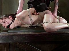 And she is so fucking stunning from the pleasant feelings that her master gives to her! She is a sex slave with a damn sexperience.