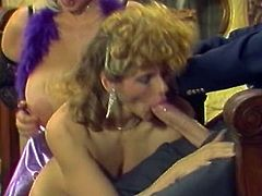 When it comes to cocks these bitches are unstoppable. Sex-starved chicks act really naughty in this hot sex video. They suck this stud's dick passionately. Then he fucks them hard on the floor. Grab your throbbing dick and enjoy the action!