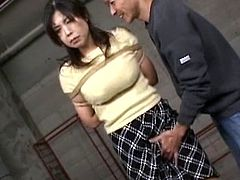 Big boobs mature Japanese babe obeys nasty males during hot BDSM show