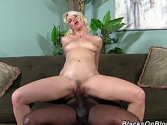 Anikka Albrite is a slutty brunette with an amazing ass. Take a look at this interracial scene where she's fucked silly by a monster black cock.
