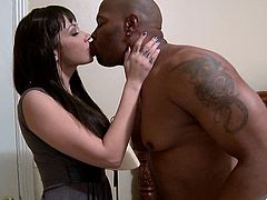 Have a look at this hardcore interracial video where the sexy Asian babe Coco Velvet is nailed by this guy's big black cock as you check her body out.