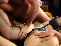 Hefty figured light haired plump hussy with big ass desperately jumps on massive dick and bounces on it powerfully in cowgirl pose. Watch this fat blondie fucking in The Classic Porn sex clip!