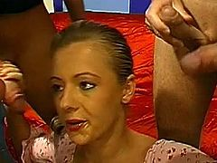 Dirty babes are having a wild pleasures in full gang bang scenes