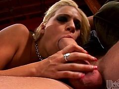 Have a look at this hardcore scene where the sexy blonde Mia Bangg masturbates with a dildo before being fucked by a big cock.