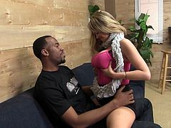 Check out this great interracial scene where the sexy Katie Kox is nailed by this guy's big black cock as you hear her moan when she's not sucking on it.