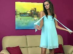 Karup's Private Collection brings you a hell of a free porn video where you can see how the slender brunette Connie Smith dildos her sweet cunt into a huge orgasm.