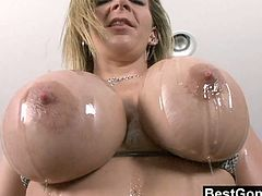 Sara Jay is ready for some hardcore interracial action with a huge black cock. After she played a bit with her big juggs she experienced super hardcore bangin.