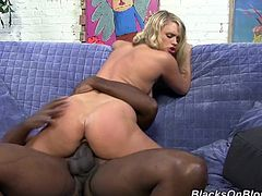 Make sure you have a look at this interracial scene where the slutty blonde Heather Starlet ends up with a mouthful of cum after taking a pounding from a brother.
