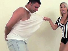 Dazzling beauty turns into a slut when dominating her guy in sexy femdom scene