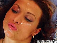 Sexy Jany shows off her big natural titties and then gets