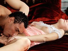 Sucking cock and getting her pussy eaten makes hot Natasha Von tremble with desire. She fucks hard and receives a facial cumshot.