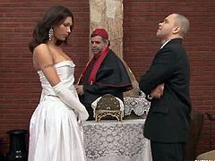 Shemale Weddings brings you a hell of a free porn video where you can see how a just married shemale barebacks her man's ass into a breathtaking anal orgasm.