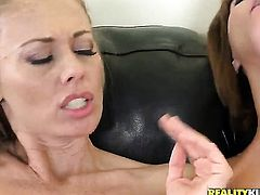Blonde Anita Dark with bubbly butt has fire in her eyes as she masturbates