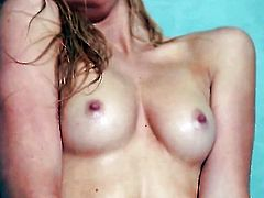 Emily Kae with tiny tities and trimmed cunt bares it all on camera in solo action