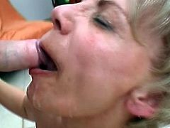 Horny mature feels awesome with a young cock inside her warm vag