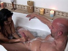 Asian Lana Violet fucks in the bathroom