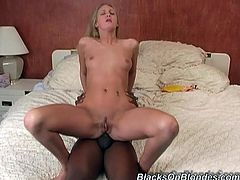 She found him playing with sex doll and decided to gave him the real hardcore sex. She let him to fuck all of her holes until she get orgasm.