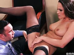 Keiran Lee uses his throbbing snake to bring blowjob addict Teal Conrad to the edge of nirvana