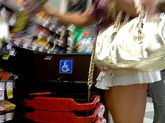 Amber Lynn at the supermarket