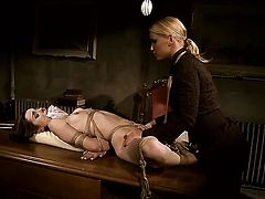 Blonde Kathia Nobili and Jeanine Hot enjoy another lesbian sex session in front of the camera