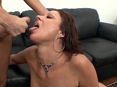 Alluring milf rides it hard before getting filled with creamy jizz