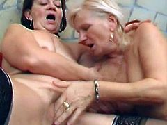 Slutty ladies are eager to play with this stiff cock in a wild threesome show
