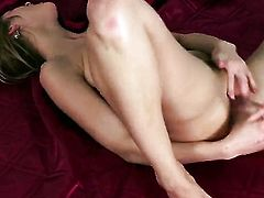 Unbelievably sexy woman Jane Darling is full of desire to fuck herself with dildo