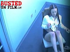 Busted On Film brings you a hell of a free porn video where you can see how a hidden security cam catches a kinky footjob session that's bound to get much hotter!