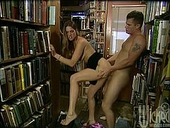Two hot sex stories in one video! So, this juicy angel Alexa Rae gets fucked in the row of books, while the other babes are loving each other in a lesbian one.