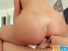 Carolina is a skanky hot slut! Perky blonde gets used and abused and fingered and fucked and sucks that cock till it pisses all over her!