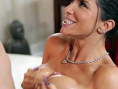 Watch Romi Rain taking this guy's load in her mouth in this hardcore scene where she's fucked silly by him as you hear her moan.
