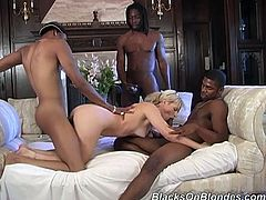Its a black cock buffet for Michelle when she ends up getting all her holes filled with black dick at this interracial gangbang.
