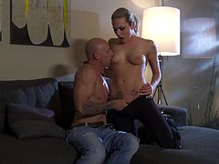 Rough sex for the slutty cock thirsty blonde Bailey Blue