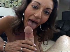 Persia Monir is a hot brunette with big natural tits and an amazing ass. Watch this babe being nailed by a big cock in this hardcore scene.