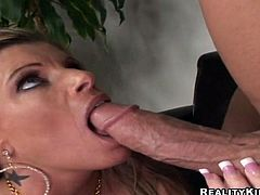 What a filthy and horny boss Kristal Summers is! She lets her employee to play with her delicious tits and then fuck her sweet pussy! It's so wild!