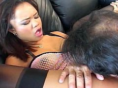 this asian loves to take it in all her wholes - ass included!