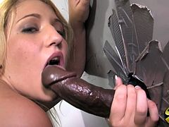 She attacks that black dick like she is starving in this crazy interracial gloryhole scene that finds Jessi sucking and fucking.