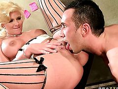 Phoenix Marie with huge jugs is the one hard cocked dude Keiran Lee loves to fuck