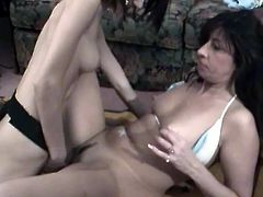Short haired ugly filthy chick puts on strapon and gifts missionary and doggy style fuck to her hot blooded sweet babe which after rides that imaginable cock. Watch this crazy lesbos in Chick Pass Network porn clip!
