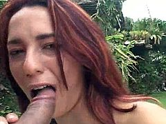 Big ass beauty enjoys this long dick in a stunnign outdoor fuck session