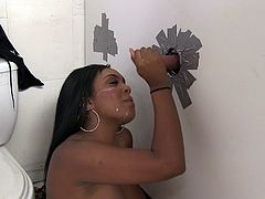 Superb Layton Benton has her first gloryhole experience. It should be noticed that she is very good at it. Layton gives an amazing blowjob and also gets fucked in her pussy.