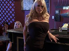 Make sure you get a load o this hardcore scene where the horny blonde Stormy Daniels is fucked by a muscular guy after being eaten out.