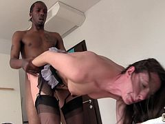 This is an interracial porn and you will enjoy the diversity of these two! Lara Latex is a charming milf and she will make her black dude feel good!