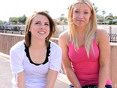 Be part of this reality video where two teen girls, act naughty in the street. They love doing kinky things in public outdoors and film it all!